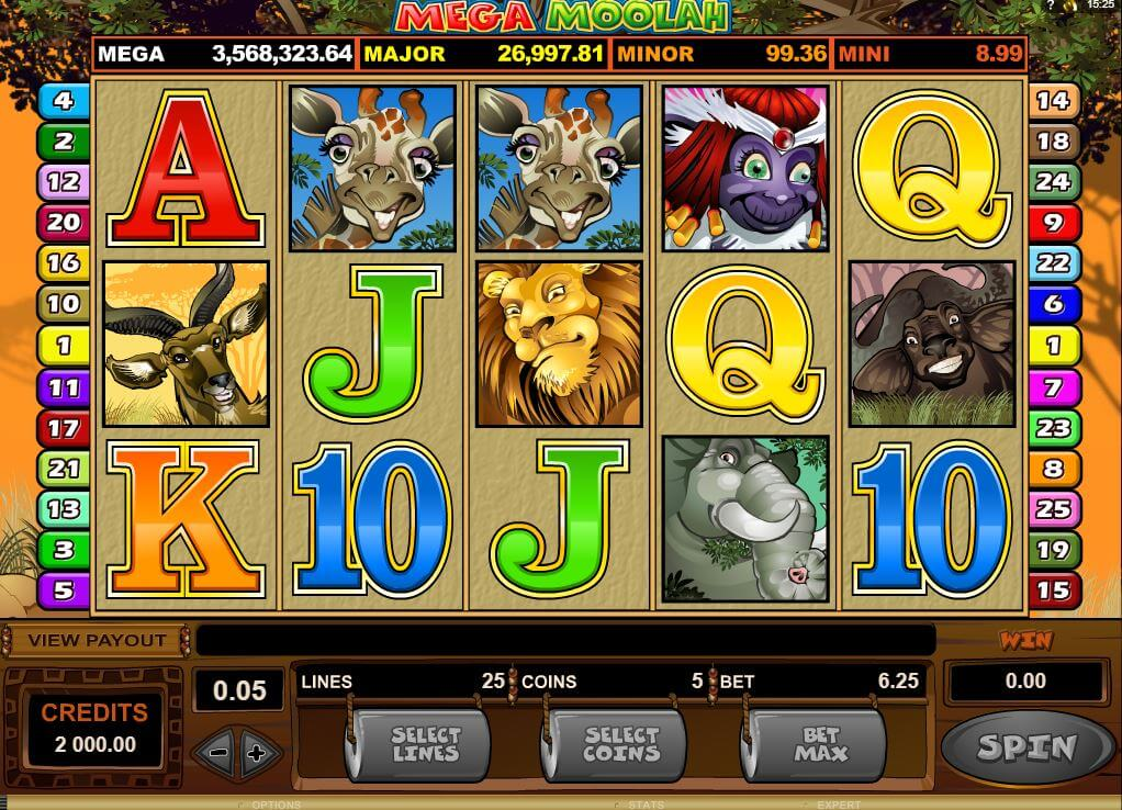 Mega Moolah on progressiivinen jackpot